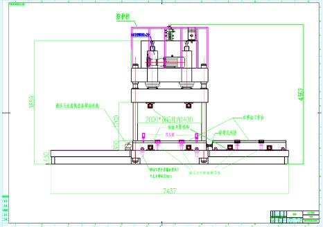 hydraulic machine drawing